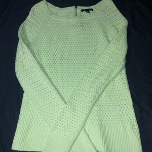 Light lime green sweater. Only worn once!